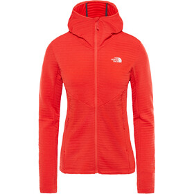 The North Face Impendor Light Midlayer Hoodie Dam juicy red dark heather